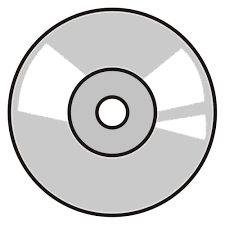 purely decorative clipart of a cd