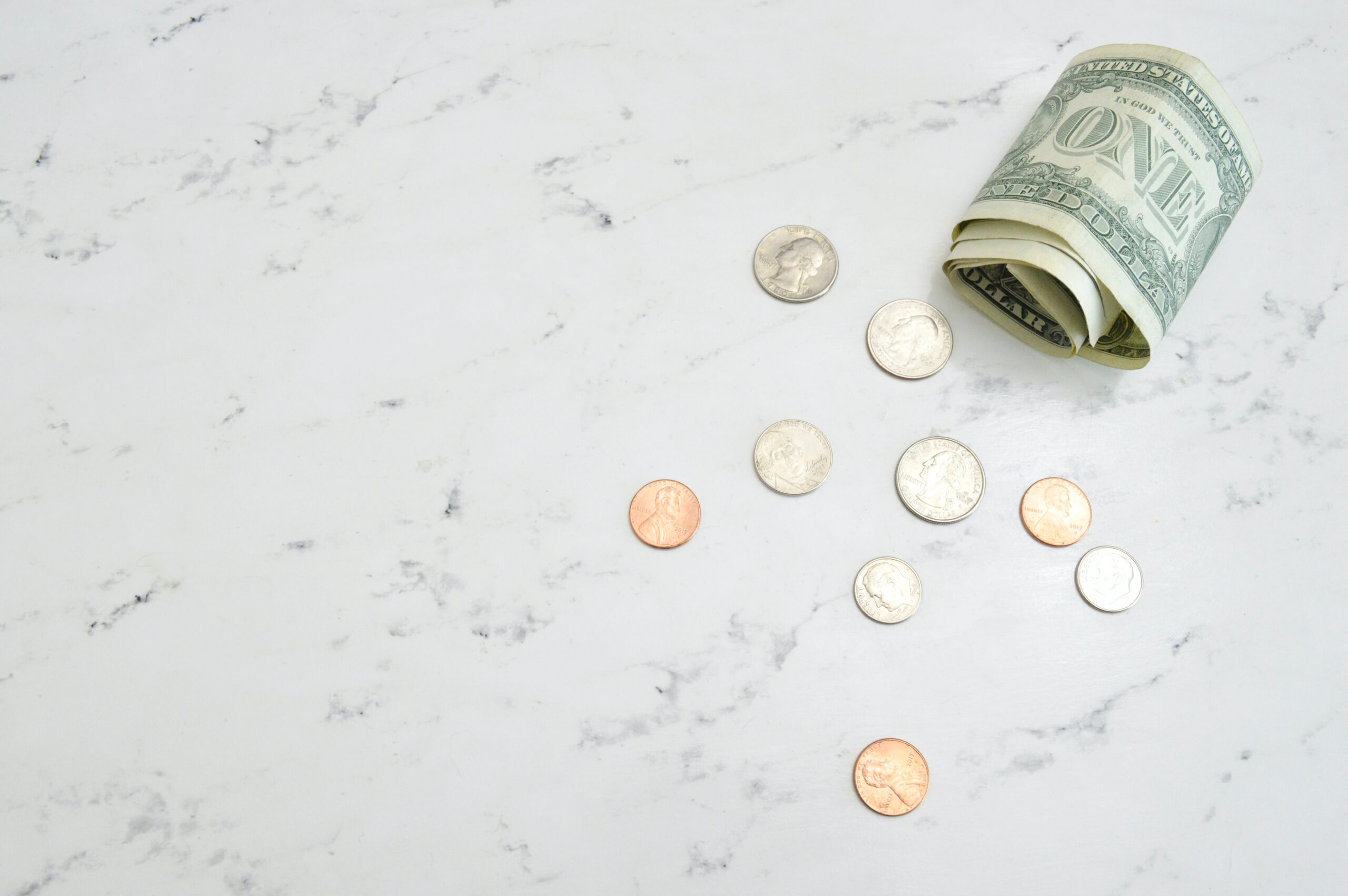 a dollar and change